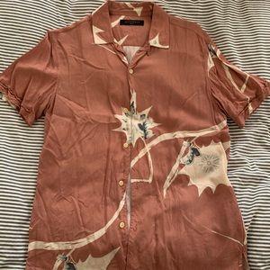 ALLSAINTS men's short sleeve shirt button size S